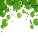 Green Balloons Stock Image