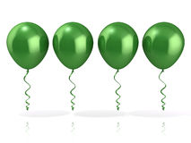 Green balloons Royalty Free Stock Photo