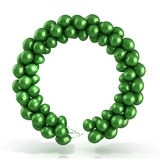 Green balloons wreath Royalty Free Stock Photo