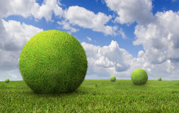 Green balls Royalty Free Stock Photography