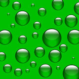 Green balls. Spheres or balls, all green, thinking at the same thing, why are we green vector illustration