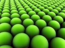 Green balls. Abstract field of green balls Stock Image