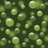 Green balls on abstract background Royalty Free Stock Images