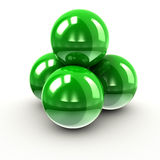 Green balls Stock Photography