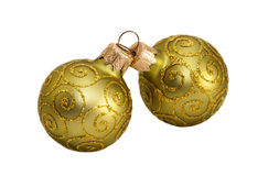 Green balls to decorate . Stock Image