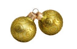 Green balls to decorate . Green balls to decorate the Christmas tree stock image