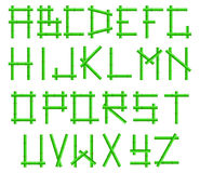 Green bamboo alphabet Royalty Free Stock Image
