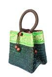 Green bamboo bag Stock Images