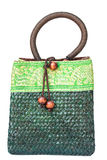 Green bamboo bag Royalty Free Stock Photography