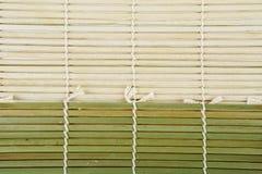 Green Bamboo mat Stock Images