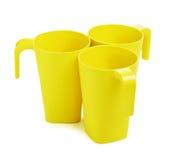 Green Bamboo Mugs Royalty Free Stock Photography