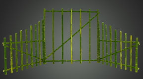Green bamboo screen Royalty Free Stock Image