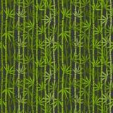 Green bamboo seamless pattern Stock Photography