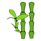 Green bamboo stem icon cartoon Royalty Free Stock Photography