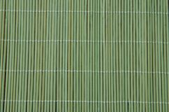 Green bamboo tablecloth Stock Images
