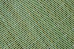 Green bamboo tablecloth Royalty Free Stock Images