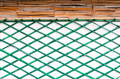 Green bamboo wall Royalty Free Stock Image