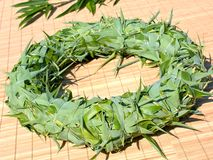 Green bamboo wreath Stock Photography