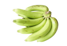 Green banana. On a white background. Isolated Stock Photography
