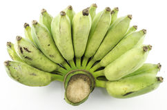 Green banana Stock Image