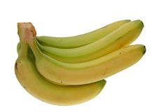 Green banana bundle Royalty Free Stock Photos
