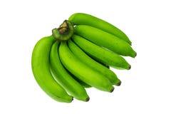 Green banana bundle on a white background. Green banana  on a white background Royalty Free Stock Image