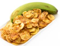 Green Banana Chips from Cuban Cuisine Stock Photography
