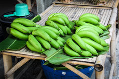 Green banana Stock Photo