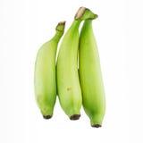 Green banana. Isolated white background stock photo