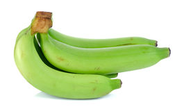 Green banana isolated on the white background Royalty Free Stock Images