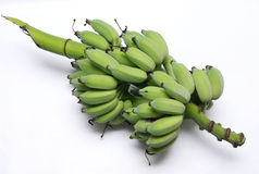 Green banana from organic farm Royalty Free Stock Images
