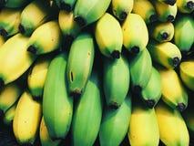 Green Banana Beside Yellow Banana Royalty Free Stock Photo