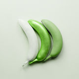 Green bananas art. Creative fruits Royalty Free Stock Photography