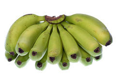 Green Bananas Isolated Royalty Free Stock Photo