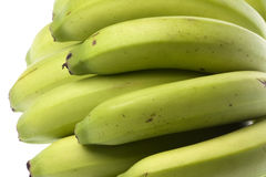 Green Bananas Isolated Stock Photos