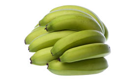 Green Bananas Isolated Royalty Free Stock Photos