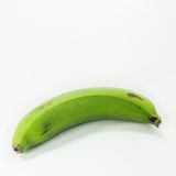 Green bananas isolated Royalty Free Stock Photography