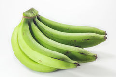 Green bananas isolated Stock Photography