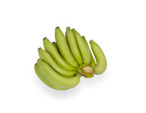 Green bananas isolated on white Royalty Free Stock Images