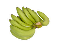 Green bananas isolated on white Royalty Free Stock Image