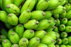 Green bananas at the market Stock Image