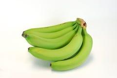 Green bananas. On white background Royalty Free Stock Photos