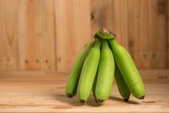 Green bananas Stock Image
