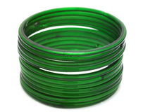Green bangles Stock Photo