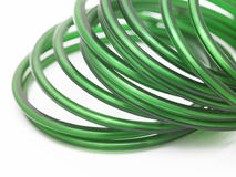 Green bangles Stock Images