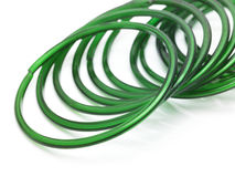 Green bangles in white background Royalty Free Stock Images