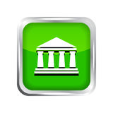 Green bank icon Royalty Free Stock Photography