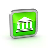 Green bank icon Royalty Free Stock Image