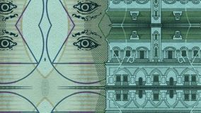 Green bank note stock footage