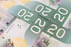 Green bank notes Stock Images